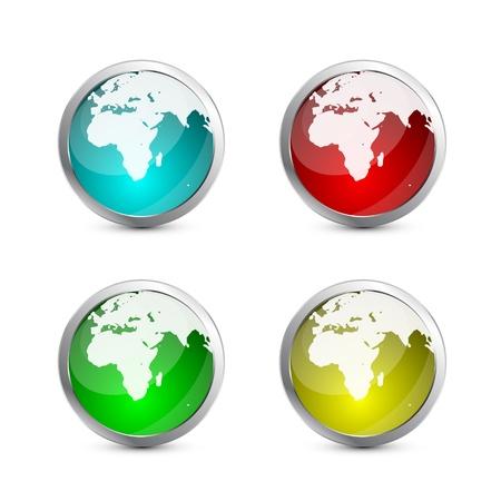 Glass globe icon Stock Vector - 13254435
