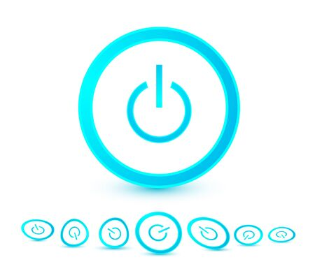 Vector power buttons Vector