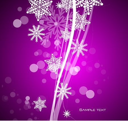 Purple Christmas background Vector