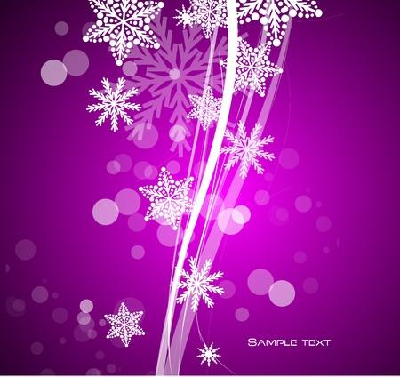 Purple Christmas background Stock Vector - 13254474