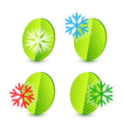 Snowflake leaf concept Stock Vector - 13254503