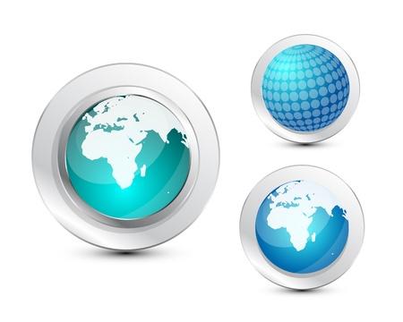 Glass globe icon Stock Vector - 13254439