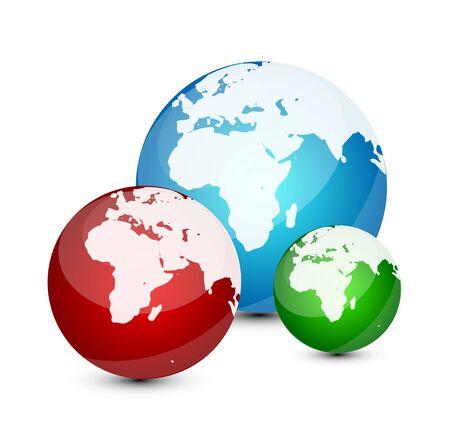 Glass globe icon photo