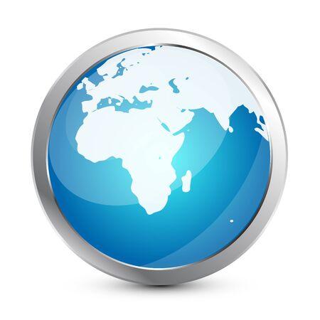 Glass globe icon Vector
