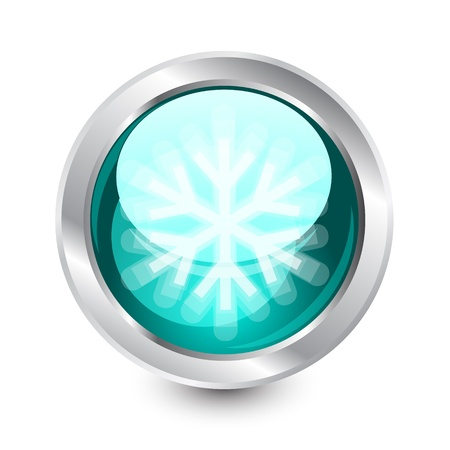 Snow buttons Vector