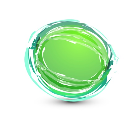 Damaged sphere button Vector
