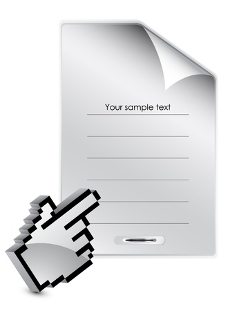 Metal page Stock Vector - 13254405