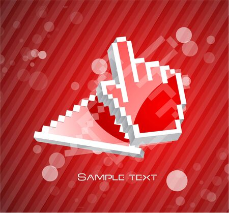 Hi-tech hand pointer background photo