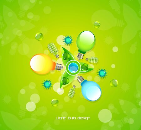 Electricity nature concept background Vector
