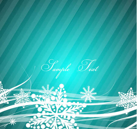 Blue Christmas wavy lines background photo