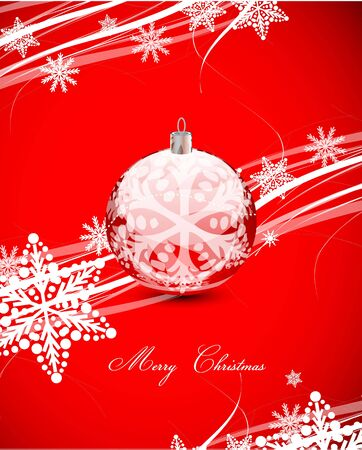 Red Christmas lines background Vector