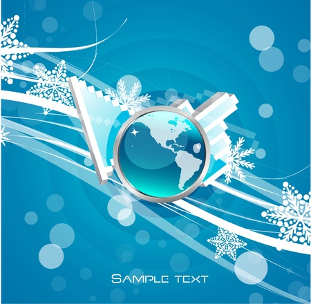 Hi-tech hand pointer background Vector