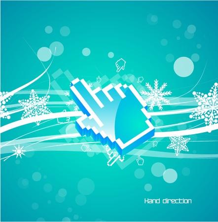 Hi-tech hand pointer background Vector