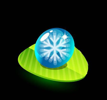 Nature green snowflake concept Vector