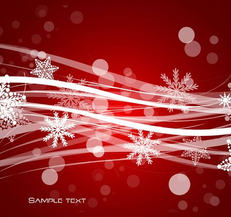 Red Christmas lines background Stock Vector - 13269897