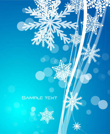 illustraion: Blue Christmas wavy lines background