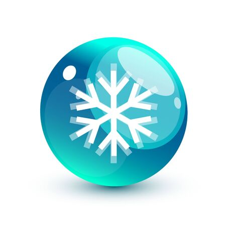 Nature green snowflake concept Vector