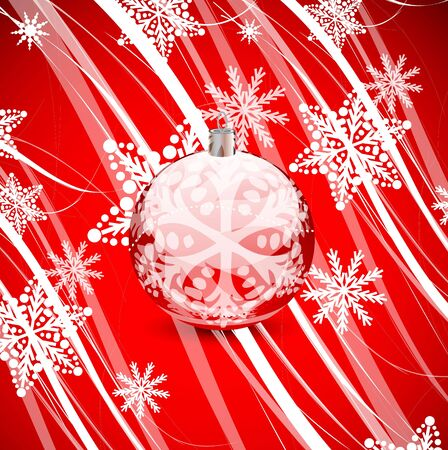 Red Christmas lines background Stock Vector - 13269782