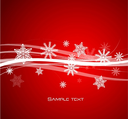 Red Christmas lines background Stock Vector - 13269830