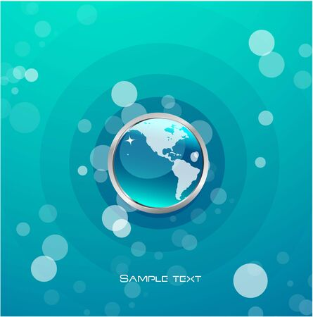 Glass globe background Vector