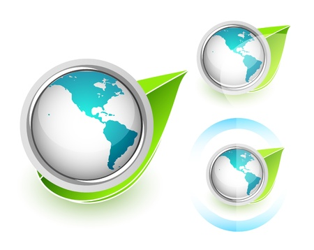 international recycle symbol: Eco Globe Illustration