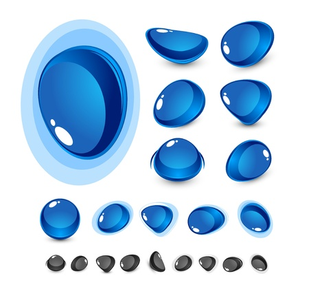 Blue glass shapes Stock Vector - 13269934