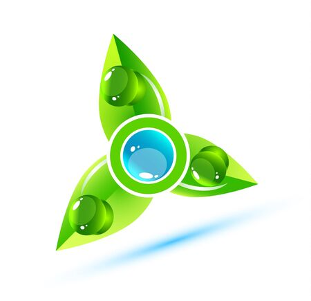 Water nature leaves concept Stock Vector - 13269930