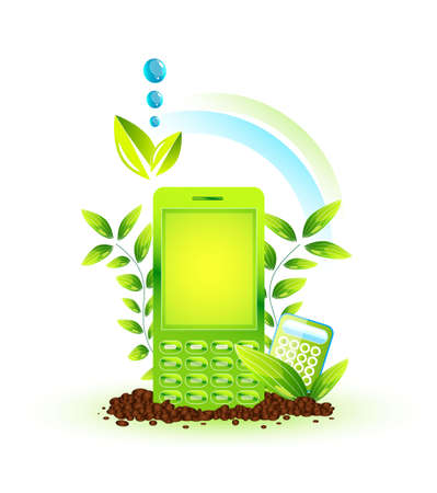 Eco cellphone Stock Photo - 13269956