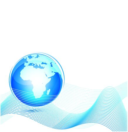 Technology world abstract background Vector