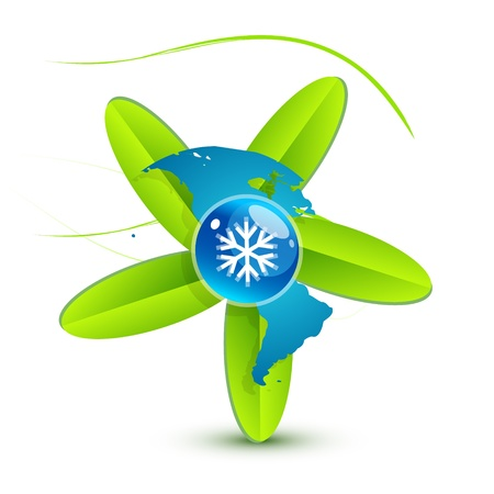 Water leaf concept Vector