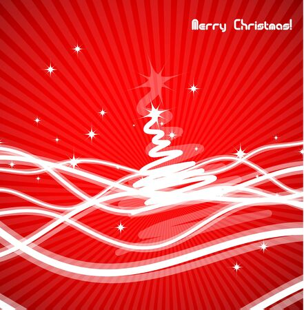 Red Christmas abstract background Stock Vector - 13302934