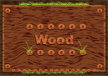 Wooden elements Vector