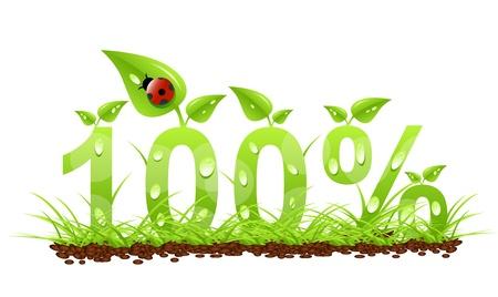 100  natural label Illustration