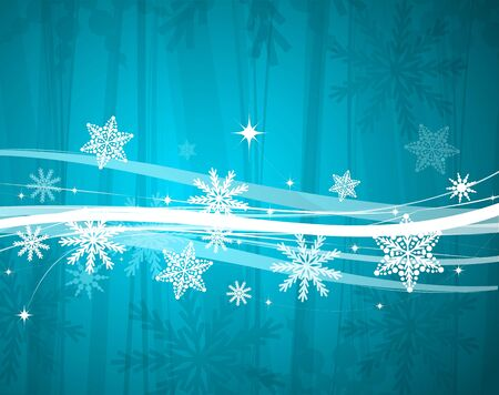 Blue Christmas lines vector background Stock Vector - 13314488