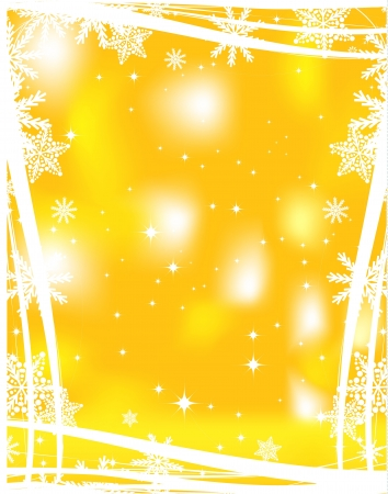 Yellow Christmas background Vector