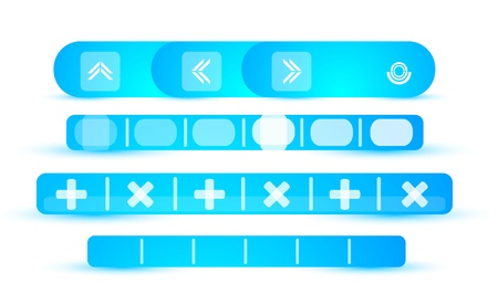 Blue vector header set Vector