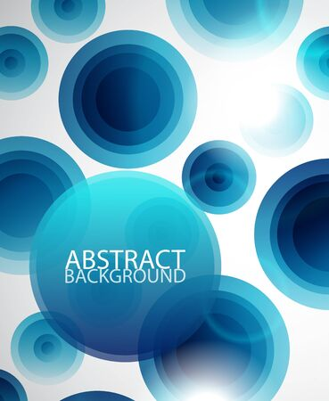 Blue circle background Vector