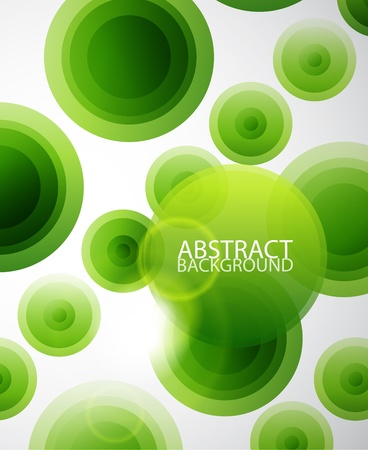 Green circles abstract background photo