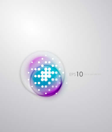 Abstract sparkling blurred shape background Vector