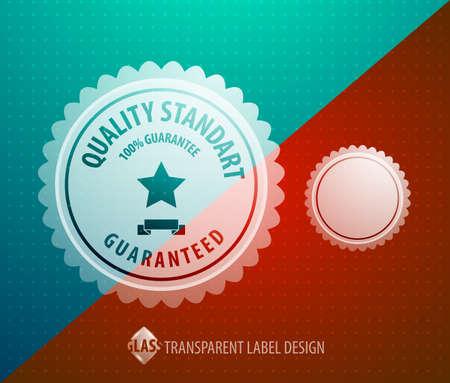 transparent label Vector