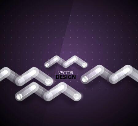Technology zigzag glass background photo