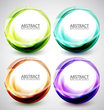 Abstract vector swirl set Stock Vector - 13400916