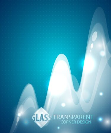 Transparent wave background Vector