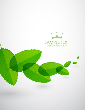 Green leaves background Stock Vector - 13400886