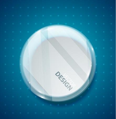 Transparent glass circle Stock Vector - 13400910