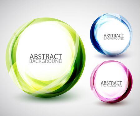 Abstract swirl set