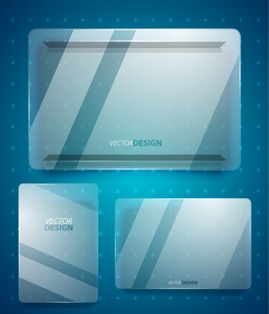 glass ad banner Vector