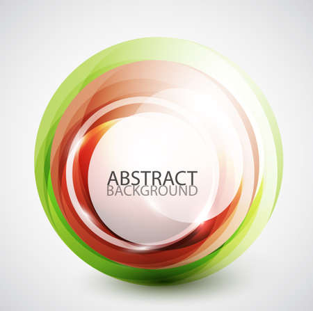 Abstract swirl sphere background Stock Vector - 13400853