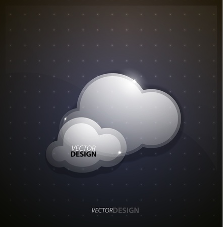 Techno clouds background photo
