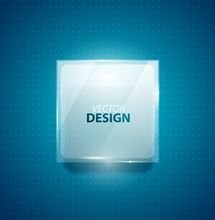 Glass square banner Stock Vector - 13400902